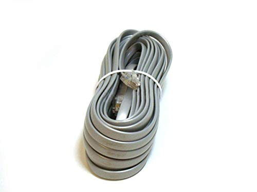 Monoprice RJ12 Phone cable (6P6C) Straight - 25 Feet - Grey Used for Data