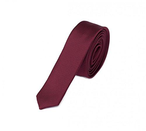 Fabio Farini - Elegante Herren Krawatte unifarben in 3cm Breite in verschiedenen Farben für jeden Anlass wie Hochzeit, Konfirmation, Abschlussball Weinrot