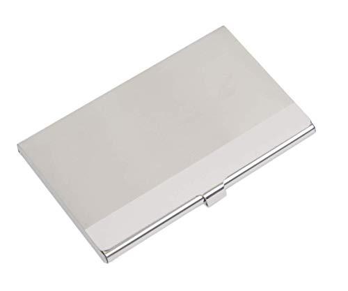 Visitenkartenetui, Edelstahl-Ausweishüllen Organizer-Etui Box für Männlich Weiblich Kreditkarten Silber