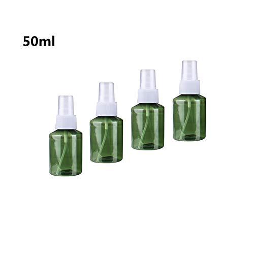 Ssowun 50ml Flacon Pulvérisateur en Plastique, 4 Pièces Bouteille de Voyage Portable Vide Flacon Parfum Réutilisables pour Parfum Cosmétique Liquide