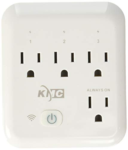 KMC 4 Outlet WiFi Smart Plug with Energy Monitoring Smart Outlet, Remote Control Wall Surge Protector, No Hub Required, Compatible with Alexa/Google Home/IFTTT