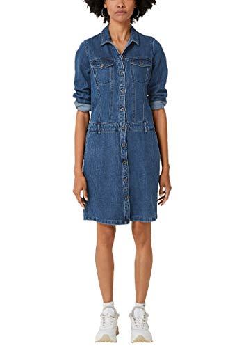 s.Oliver Damen 14.908.82.3378 Kleid, Blau (Blue Denim Non Stretch 55y4), (Herstellergröße: 34)