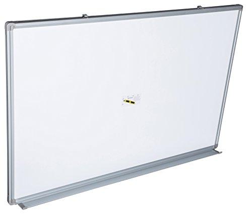 Whiteboard Magnettafel mit Alurahmen und durchgehender Stiftablage, in 9 Größen, schutzlackiert, magnethaftend, CLIP Funktion, mit Montagematerial, Größe:90x60 cm