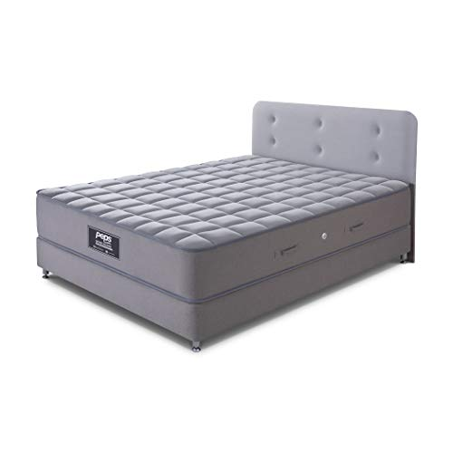 Peps Spine Guard 6-inch Single Size Spring Mattress (Grey, 75x36x06) With Free Pillow