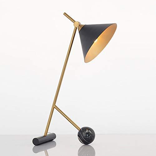 SXNYLY Posmoderna Hierro luz lámpara de Escritorio Minimalista Estudio lámpara de Mesa Moderna lámpara de cabecera del Dormitorio lámpara de cabecera de la Sala tocador (Color : Negro)