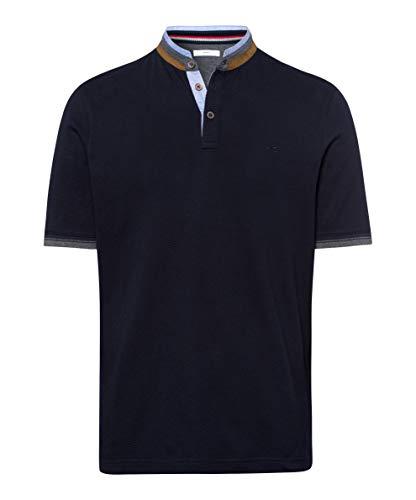 BRAX Herren Style Pollux Structure Jersey T-Shirt, Blau (Dark Navy 22), X-Large (Herstellergröße: XL)