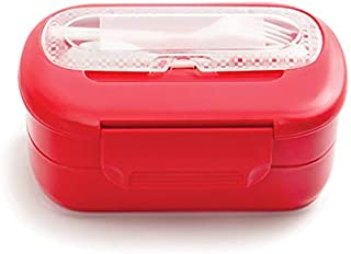 Tupper Practi Lunch, Polipropileno, Capacidad 800, 200 y 140 ml C/Compartimiento, Medidas 20 x 15 x 9 cm, Incluye Cubiertos