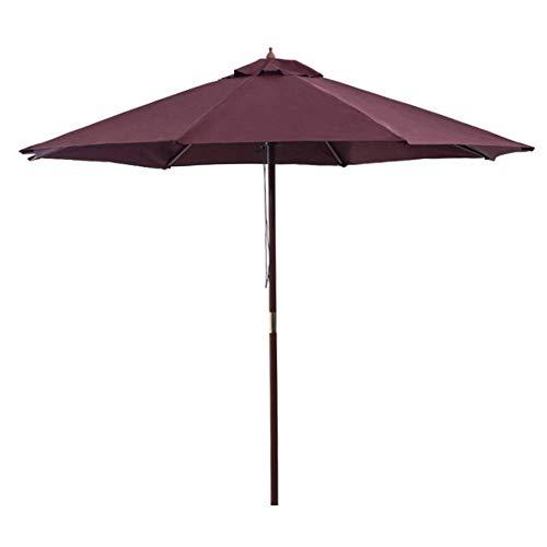 FGVBC Parasoles de jardín de 2,7 m Parasol de Patio al Aire Libre, Parasol de jardín Grande en toldo de Paraguas de Aluminio Ligero y Resistente Protector UV para Playa/Piscina/Patio