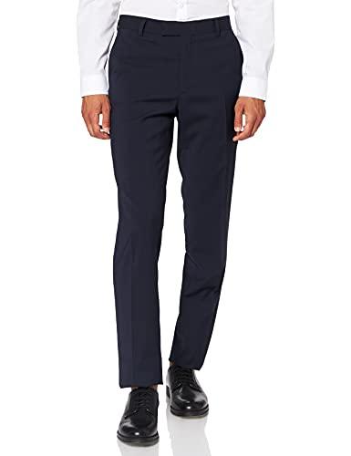 bugatti 788500-99770 Pantalon de Costume, Bleu Marine (49), 25 Homme