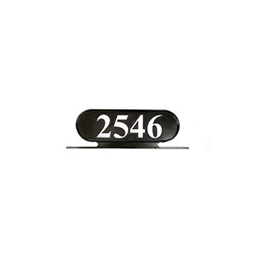 ADDRESSES OF DISTINCTION Williamsburg Style 8 Address Plate – Plaque for House Numbers - Rust Proof Aluminum Mailbox Topper - Mounting Hardware Included (Silver Reflective Vinyl Numbers)