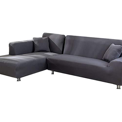 AllRing Sofföverdrag, L-form, hörnsoffa, dra-över-täcke, stretch, set för 1-4-sits-soffa (om soffan är en L-formad hörnsoffa behöver du två)
