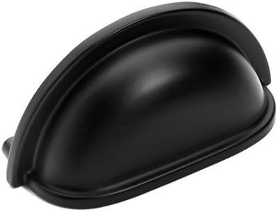 Dynasty Hardware P-2769-FB-25PK Flat Black Cabinet Hardware Bin Pull, 25-Pack