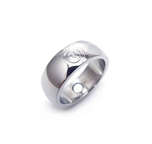 Magnetring Feng Shui Energy Fortune mit Neodym Magnet Energiespirale Förderung von Erfolg und Reichtum Magnetschmuck-4you Magnetring 2122 22