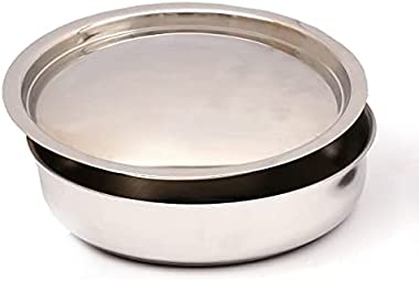 Pioneer Stainless Steel Sandwich Heavy Weight Bottom Saute Pan 20CM with SS Lid (Induction Base) Wide Mouth…