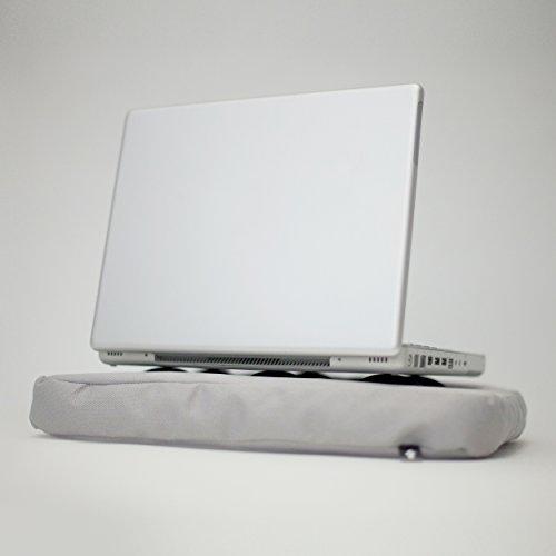 bosign - Laptopkissen - Kniekissen - Polyester - Silber/schwarz - 37x27x6 cm