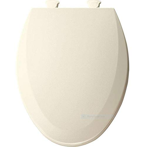 BEMIS 1500EC 346 Toilet Seat with Easy Clean & Change Hinges, ELONGATED, Durable Enameled Wood, Biscuit/Linen