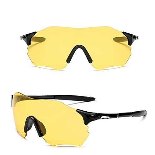 WDEEFR Frio Gafas de Sol para Hombre Deportes Gafas de Bicicletas de Carretera Ciclismo Gafas Protectoras Gafas Bicicletas Polarizadas Gafas (Color : NO 06, Size : One)
