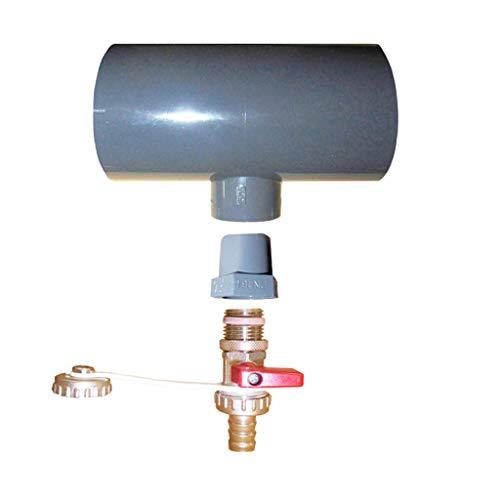 well2wellness® Solarabsorber Entleerungsset für PVC-Verrohrung Ø50mm