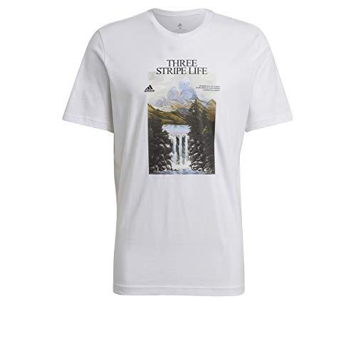 adidas GN6851 Mountain Tee M T-Shirt Uomo White M