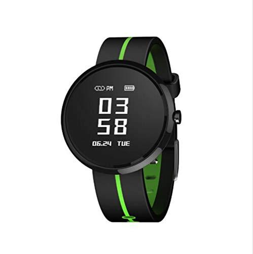 Pulsera De Actividad Reloj Inteligente,Impermeable Hombres Mujeres Contador De Pasos De Calorías Medidor De Oxígeno En Sangre Smart Watche Compatible con Teléfonos iOS O Android Verde 0.95inch