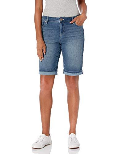 Bandolino Women's Mandie 5 Pocket Denim Bermuda Short, Sonora, 14 Regular