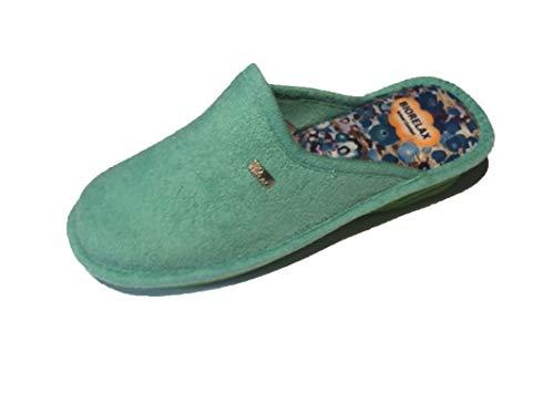 Zapatillas de Estar por casa/De Mujer/Biorelax/Primavera-Verano/Mod. Cuña 3 cms/Color Aguamar/Talla 37