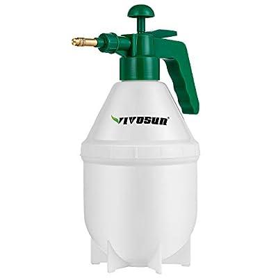VIVOSUN 0.4Gallon Hand held Garden Sprayer Pump Pressure Water Sprayers, 50 oz Hand Sprayer for Lawn, Garden (1.5L Red)