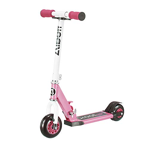 Albott Kid Scooter My 1st Scooter Folding Removable 4 Wheel Scooters for Kids 3 Growth Stage Transformer Toddler Scooters Age 2-5 (Pink)