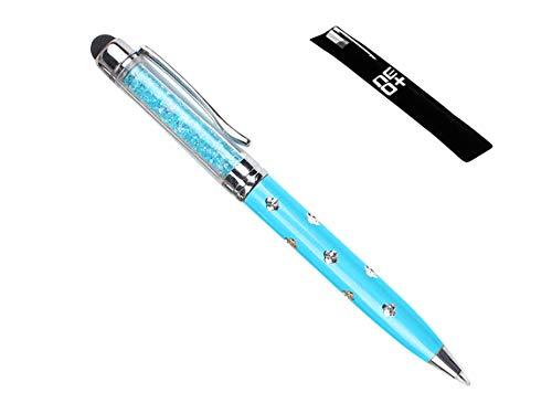 QUALITÀ 2-in-1 penna a sfioramento capacitiva touchscreen e penna a sfera con cristalli Swarovski. 1 x RICARICA PENNA GRATUITO (BLU)