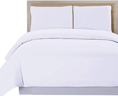 DHestia Hostelería - Funda Nórdica para Edredón Blanca Hotel 50% Algodón 50% Poliéster (160x240 cm - Cama 90)