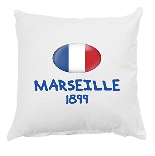 Tipolitografia Ghisleri Cojín Marsella 1899 Francia con funda de almohada 40 x 40 cm para cama sofá 25 funda y relleno de poliéster