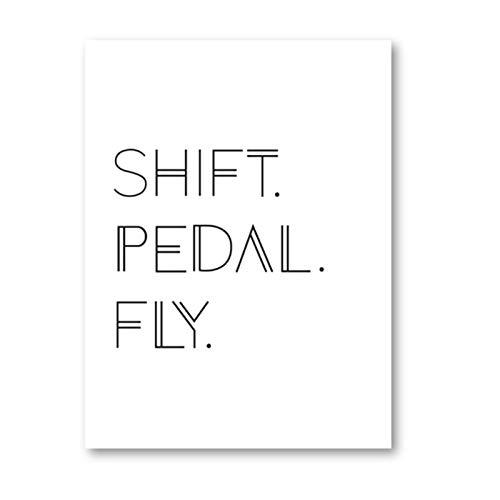 WSTDSM Pedal De Cambio De Bicicleta Fly Ciclismo Pared Arte Lienzo Pintura...