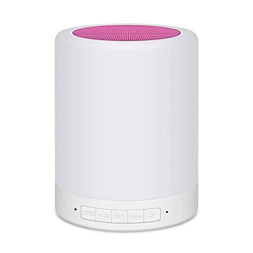 KDMB Altavoces de Barra de Sonido, Altavoz de música Bluetooth, Barra de Sonido táctil Inteligente Regulable con luz Nocturna y Llamadas Manos Libres 7 Modos de luz de Color Compatible con Carga USB