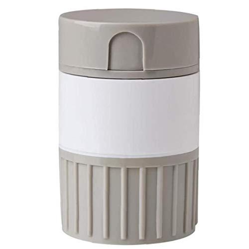 Pillerdelare behållare förvaringsbox piller kross kvarn tablettdelare 4 i 1 organiserare