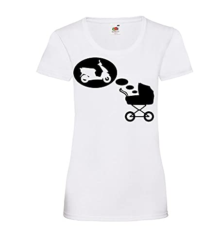 Shirt84.de - Camiseta de manga corta para mujer Blanco XXL
