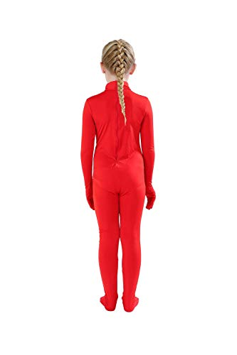 Full Bodysuit Kids Dancewear Solid Color Spandex Zentai Child Unitard