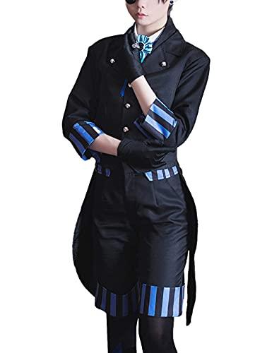 ZZZQCYP Anime Black Butler Ciel Disfraz de Cosplay Disfraz de Halloween Disfraz de Uniforme gtico para Mujer Conjunto Completo