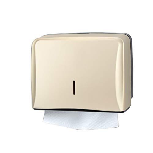 ZSP Papiertuchspender Papierhandtuchspender, Gewerbe Toilettenpapierspender Wandhalterung Papierhandtuchhalter C-Falten/Multifold Papierhandtuchspender for Badezimmer, Küche Gewebespender