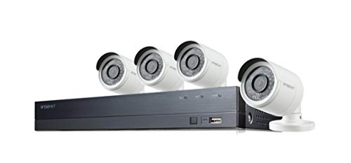 Wisenet SDH-B74043BF 8-Channel 1080p Full HD DVR Security System with 1TB Hard Drive, and 4...