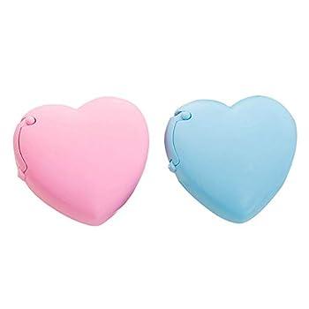 YAOSEN Candy Color Tape Dispenser Cute Roll Tape Organizer Desk Home Office Supplies  2Pcs Heart