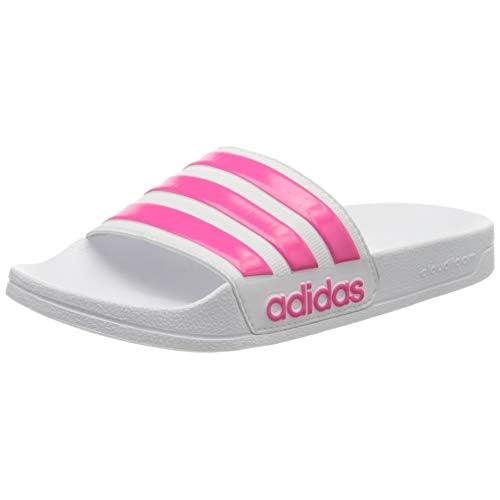 Adidas Adilette Shower Scarpe da Spiaggia e Piscina Bambino, Bianco (Ftwbla/Rossen/Ftwbla 000), 38 EU (5 UK)