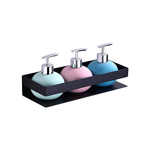 KES Bathroom Shelf Stainless Steel Bath Shower Shelf Basket Caddy RUSTPROOF Square Modern Style Wall Mounted Matte Black, BSC205S30A-BK