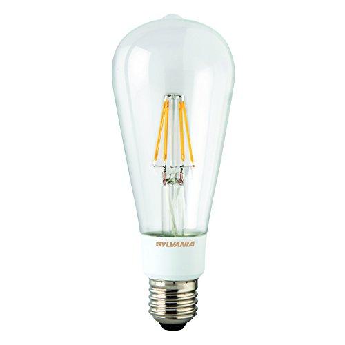 Sylvania Toledo 0027176 Rétro Compatible avec variateur d'intensité ST64 Lampe LED, verre, Home, E27, 5.5 W