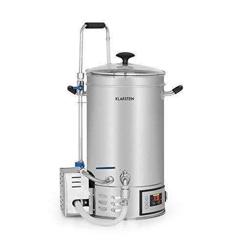Klarstein Brauheld Mash Kettle - Mash Tun, Home Brewing System, Beer Brewing System, 15L, 30-140°...