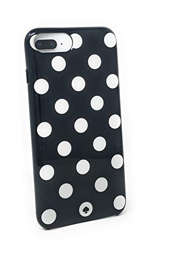 kate spade New York Large Polka Dots Protective Rubber Case For iPhone 8 Plus/iPhone 7 Plus/iPhone 6 Plus, Black/Cream