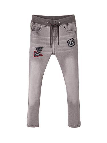 Vertbaudet Jungen Jeans mit bestickten Aufnähern grau 116