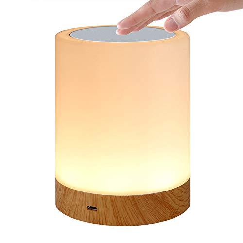 Calistouk Lámparas de mesilla de noche para dormitorios, luz de noche portátil recargable