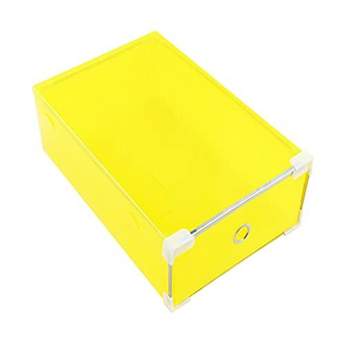 ColourQ - Caja de almacenamiento translúcida para zapatos, cajón, organizador de almacenamiento de plástico, apilable, para zapatos, plegable, color negro