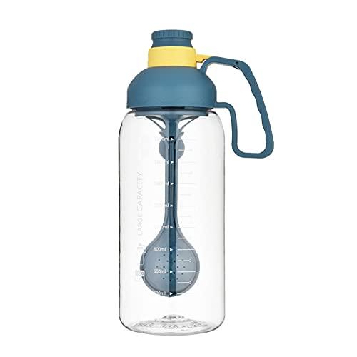 A Prueba De Fugas Botella De Agua Deportiva para Tú Y Mujer,1800ML Grye Capacidad Botella De Agua,Reutilizable BPA Free Plástico Café para Llevar con Paja Y Filtro,Protable Botella-D 1800ml