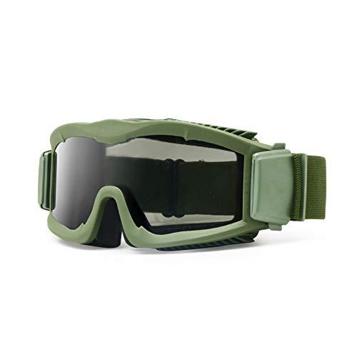 """Militär-Sonnenschutzbrille """"Alpha Ballistic"""", Airsoft-CS-Gläser, 3 Ersatzgläser, Herren, armee-grün"""